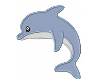 Playful Dolphin  Applique Machine Embroidery DESIGN NO. 500