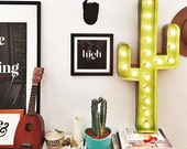 "36"" Cactus Marquee, CACTUS, light up sign"