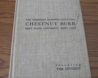 Chestnut Burr Kent State University Yearbook    1962