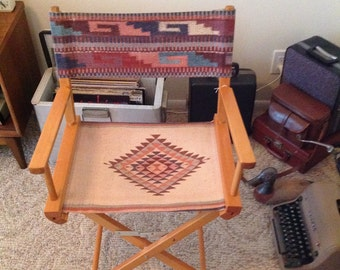 Southwestern native american print directors chair