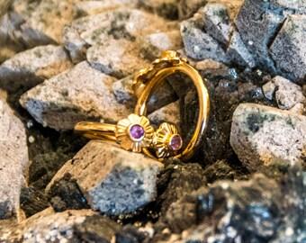 Amethyst Earrings 18 Carat Gold