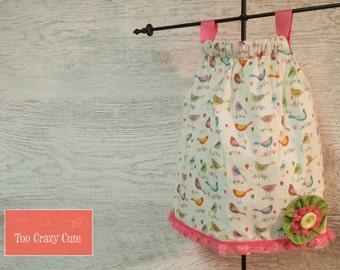 Bird Pillowcase Dress, 12 Month, Baby Girl Dress