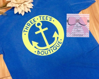 Three Tees Boutique Over-Sized Anchor T-Shirt