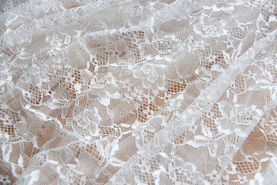 Sale white lace fabric embroidery wedding