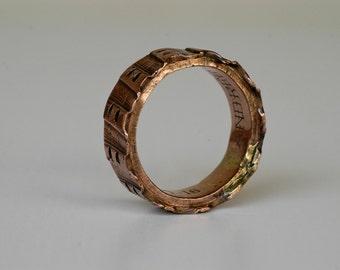 First world war trench art / ww1 world war one collectible militaria copper napkin ring / Andrée de Ruz Guerre 1914-1916 antique RARE