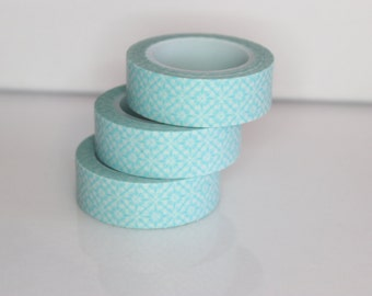 Masking tape retro pattern turquoise