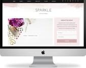 SALE! Premade Wordpress Template - Instant Download - Sparkle - Wordpress Template - Wordpress Theme - Ecommerce - Genesis Child - Blog