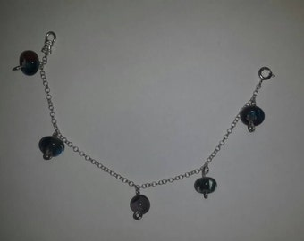 Charms lampwork bracelet