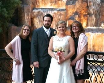 Wishing you the Joy of a long and happy marriage, Misty Rose Shawl, Wedding Pashmina,Bridesmaid Shawl,Wedding Light Pink, Bridesmaid Gift