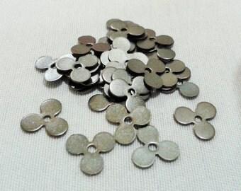 200 Pcs Antique Bronze 9 mm Flower Findings , Antique Bronze Flower Connectors