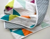 The Confetti Quilt: Birthday Party - Modern Triangle Quilt