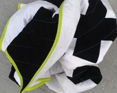 The New Addition Quilt - White and Black Modern Plus Sign Quilt