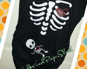 Maternity X-Ray Shirt - Baby Skeleton