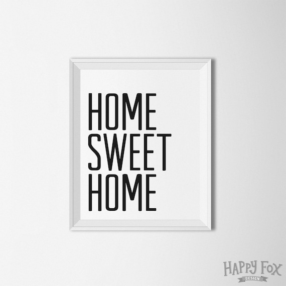 Home sweet home printable home decor typography wall art Home sweet home wall decor