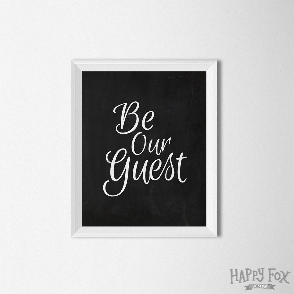 be our guest printable art guest room art chalkboard - 🔎zoom