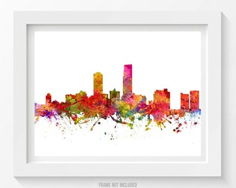 Omaha Nebraska Skyline Poster, Omaha Cityscape, Omaha  Art, Omaha Print, Omaha Decor, Home Decor, Gift Idea 08