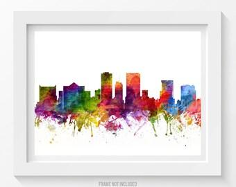 El Paso Skyline Poster, El Paso Cityscape, El Paso Print, El Paso Art, El Paso Decor, Home Decor, Gift Idea 06