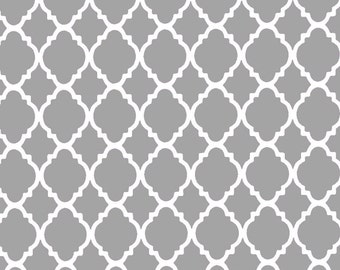 Grey Fabric | Quatrefoil Grey/White | sold by the Fat Quarter