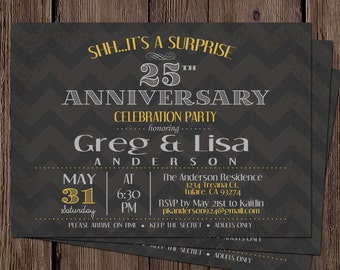 Anniversary Invitation : Surprise 25th