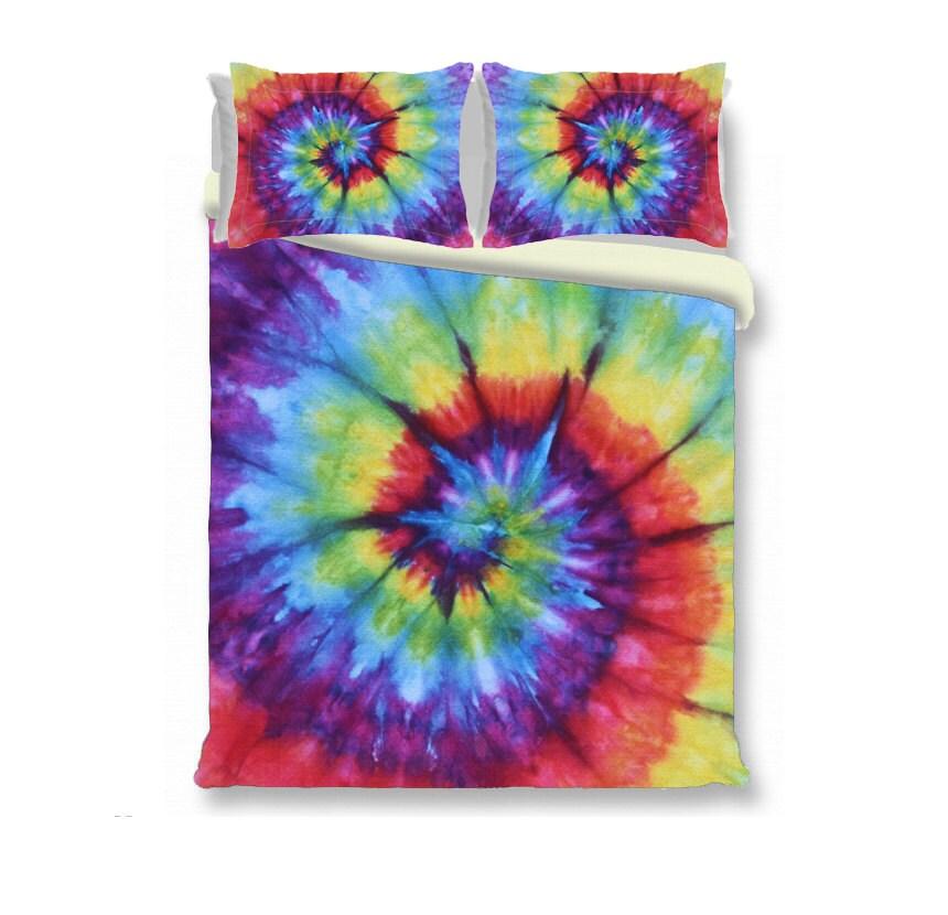 Duvet Cover Comforter Cover Tie Dye Bedding Rainbow