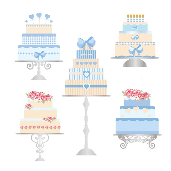FREE COMMERICAL use 40% Off Cake Clip Art Blues Birthday