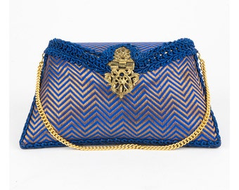 Ruhmet Brocade Zig-Zag Clutch Bag