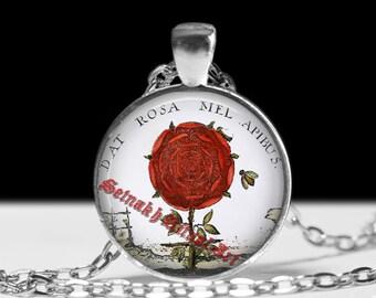 Rosicrucian rose pendant, occult pendant, magic pendant, magic jewelry, occult jewelry, magic necklace #167