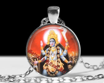 Kali pendant, hindu jewelry, Kali necklace, magic jewelry, magic pendant, esoteric jewelry, occult pendant #168