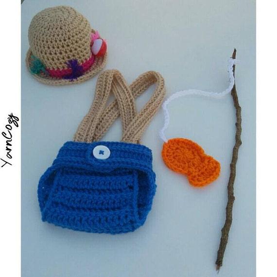 Fishing hat baby fishing hat baby fishing outfit baby by for Baby fishing outfit