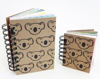 Koala - Art Journal - Visual Journal - 3x4 in or 4x6 in