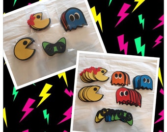 PacMan Favor Tags, Retro PacMan Tags, 80s Party, Retro PacMan Treat Tags, favor Party Tags , Treat tags, pacman party decor, pacman tags, pa