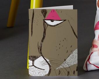 Cheetah Folk Tale Greeting Card
