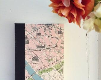 Vintage Paris Map, Journal, Medium, Lined