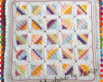 Rainbow pram blanket