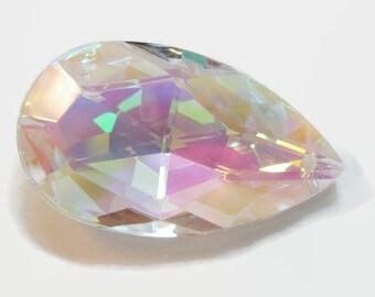 4 Asfour 50mm AB Tear Drop 30% Lead Crystal prisms, Chandelier Crystals, Wedding Chrystal, Sun Catcher Wind Chime Supply