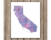 California Watercolor Download Print, Wall art instant download, Print Wall Art,  Bedroom Decor, Nursery Art Digital print