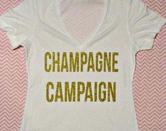 Champagne Campaign Party Shirts