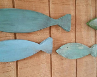 Fish Family of Five, wall decor, fish decor, fish, fishing, cabin decor, lodge decor, Nautical Decor, lake decor, hunting, fence decor