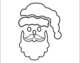 Christmas Stencil FatherChristmas Stencil - Wall Art Stencil in reusable Mylar, small to large stencils up to 19.5 x 27.5 inches.