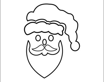 Christmas Stencils Santa Clause Stencil - Wall Art Stencil in reusable Mylar, large stencils up to 19.5 x 27.5 inches.