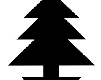 Christmas Tree Stencil - Wall Art Stencil in reusable Mylar, wall art, small to large stencils up to 19.5 x 27.5 inches.