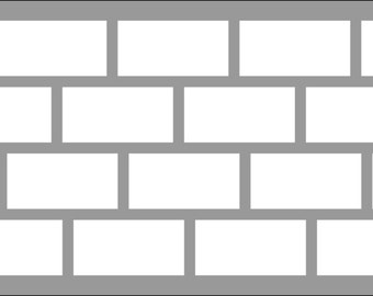 Subway Tiles Stencil - Wall Art Stencil in reusable Mylar, wall art, small to large stencils up to 19.5 x 27.5 inches.