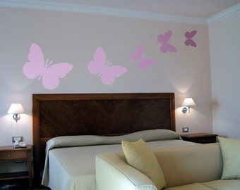 Wall Stencil Butterfly Wall Art Stencil  in reusable Mylar, wall art, small to large stencils up to 19.5 x 27.5 inches.