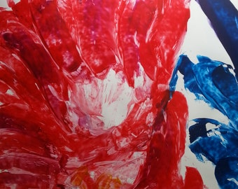 Special series painting Study in Red - Hi (A1)