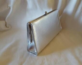 Vintage Silver Evening Clutch Purse