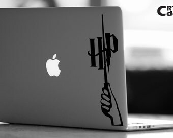 Harry Potter MacBook Decal- Magic Wand - Harry Potter Decal - Laptop Decal - Computer Decal - Computer Sticker - Harry Potter Sticker