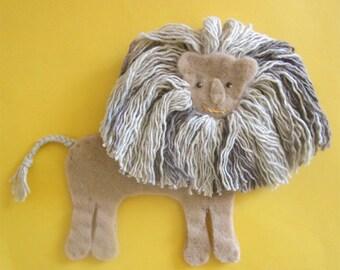 Felt Toy Lion -- Kids Toys -- felt animal for imaginative play!