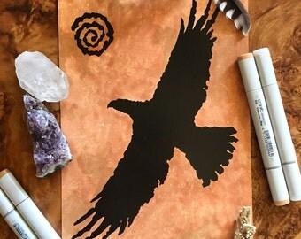 Spirit Eagle Native American Petroglyph Artwork