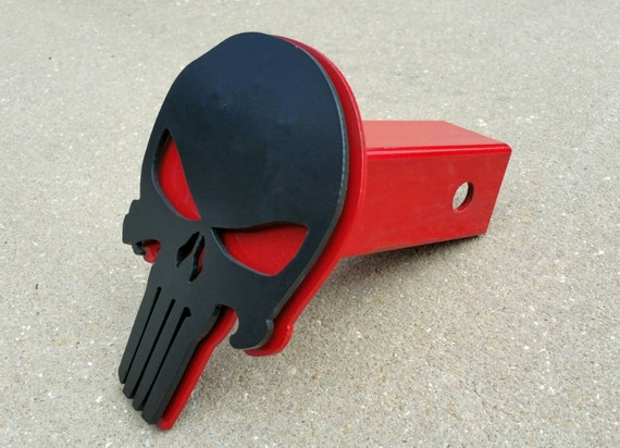 Punisher Trailer Hitch Cover, Truck Accessories, Car Accessories, Steel Punisher Skull
