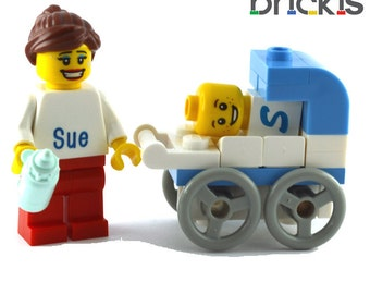 LEGO® engraved minifigures baby birth announcement just born
